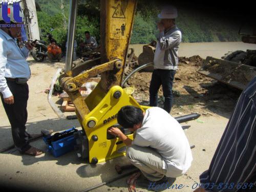 Sửa chữa máy xúc thủy lực chuyên nghiệp tại công ty Trường Linh